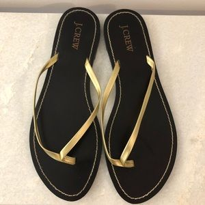 J. Crew Gold Leather Sandals